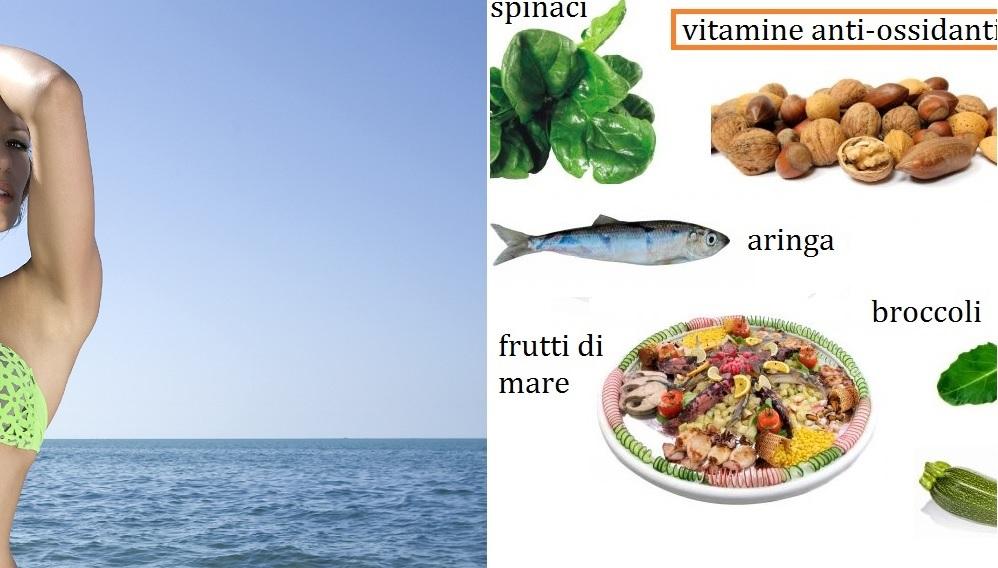 Consigli di bellezza: frutta e vegetali per l'abbronzatura.
